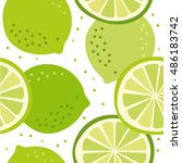 vector pattern with lime | Shutterstock .eps vector #486183742