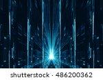 abstract digital science... | Shutterstock . vector #486200362