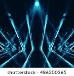 3d abstract lights lens flare... | Shutterstock . vector #486200365