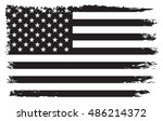 grunge usa flag.old american... | Shutterstock .eps vector #486214372