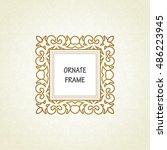 vector decorative frame.... | Shutterstock .eps vector #486223945