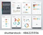 infographic vector set.... | Shutterstock .eps vector #486225556