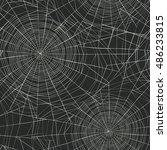 halloween themed seamless... | Shutterstock .eps vector #486233815