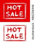 hot sale   roughly written text ... | Shutterstock .eps vector #486236446