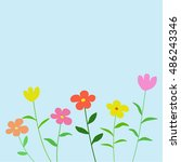 flower background vector ... | Shutterstock .eps vector #486243346