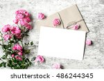 Bouquet Of Roses With A Blank...