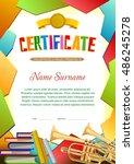 certificate blank template....   Shutterstock .eps vector #486245278