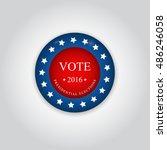 badge vote. us presidential... | Shutterstock .eps vector #486246058