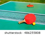 details of pingpong table with... | Shutterstock . vector #486255808