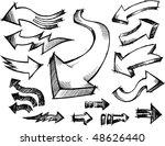 doodle sketchy arrows vector... | Shutterstock .eps vector #48626440