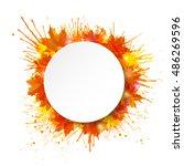 white round paper banner on...   Shutterstock .eps vector #486269596