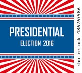2016 usa presidential election... | Shutterstock .eps vector #486269986