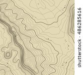 topographic map background... | Shutterstock . vector #486285616