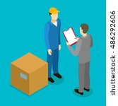 client delivery isometric... | Shutterstock .eps vector #486292606
