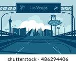 las vegas skyline   Shutterstock .eps vector #486294406