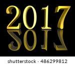 3d illustration golden text new ...   Shutterstock . vector #486299812
