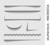 transparent realistic paper... | Shutterstock .eps vector #486306016