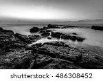 landscape photo of sunset time... | Shutterstock . vector #486308452