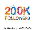 200k  two hundred thousand ... | Shutterstock .eps vector #486313606