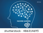 machine learning and artificial ... | Shutterstock .eps vector #486314695