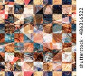 grunge triangular texture with... | Shutterstock .eps vector #486316522