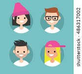 millennial profile pics   set...   Shutterstock .eps vector #486317002