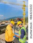 constructor work  business plan | Shutterstock . vector #486321022