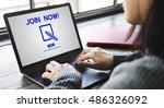 membership accept join us... | Shutterstock . vector #486326092