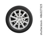 new automotive wheel on light... | Shutterstock . vector #486327325