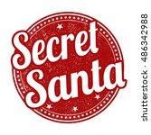 secret santa grunge rubber... | Shutterstock .eps vector #486342988
