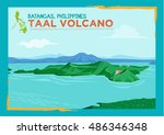 Taal Volcano Situated In A Lak...