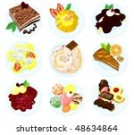 set of sweets and desserts | Shutterstock .eps vector #48634864