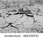 cracked soil ground texture... | Shutterstock . vector #486350932