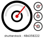 gauge meter symbol  icon at 4...