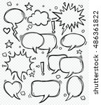comics bubbles speech | Shutterstock .eps vector #486361822