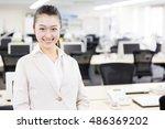 portrait of asian businesswoman ... | Shutterstock . vector #486369202