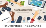 photography equipment with...   Shutterstock .eps vector #486391456
