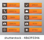 orange web buttons  high... | Shutterstock .eps vector #486393346