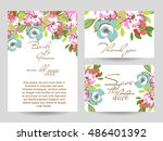 vintage delicate invitation... | Shutterstock . vector #486401392