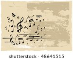 vector note grunge card | Shutterstock .eps vector #48641515