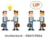 pixel illustration  business...