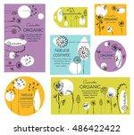 vector vintage template label...   Shutterstock .eps vector #486422422
