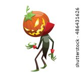 vector cartoon image of jack o' ... | Shutterstock .eps vector #486431626