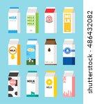 milk package design vector... | Shutterstock .eps vector #486432082