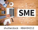 sme or small and medium sized... | Shutterstock . vector #486434212