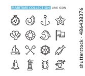 set of icons sea. | Shutterstock .eps vector #486438376