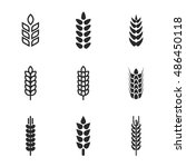 wheat vector icons. simple...