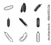 cucumber vector icons. simple...
