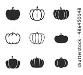 pumpkin vector icons. simple...
