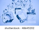 abstract with blue ice.... | Shutterstock . vector #48645202